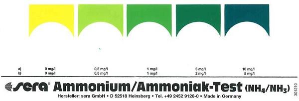 Bảng màu Test nh3 - kiểm tra hàm lượng khí độc