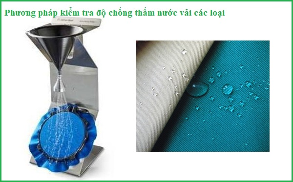 Phương pháp kiểm tra độ thấm nước của vải