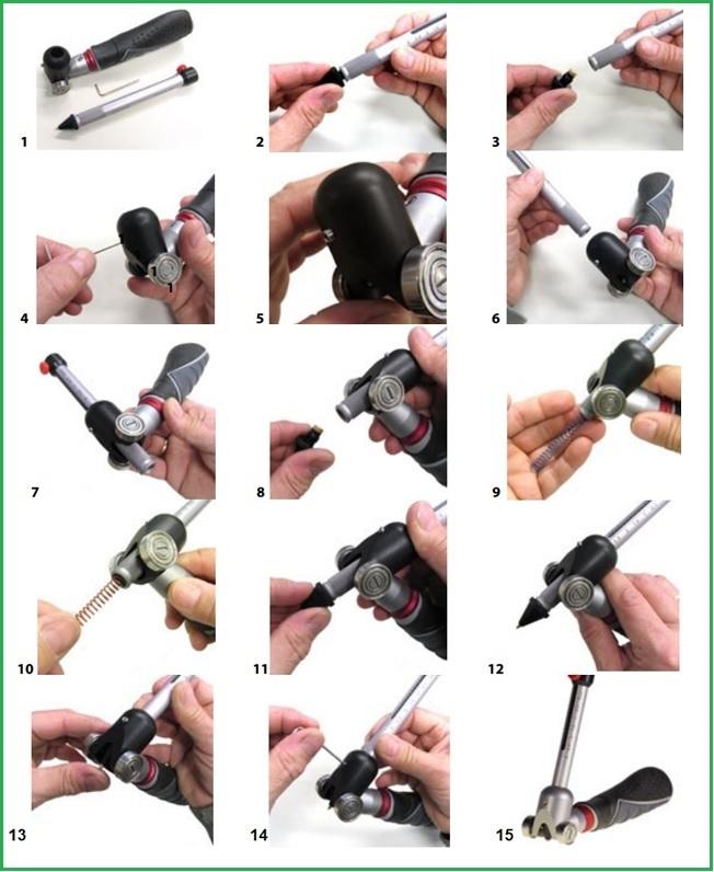 Cách sử dụng bút đo độ cứng sơnTQC (SP0010, SP0015)