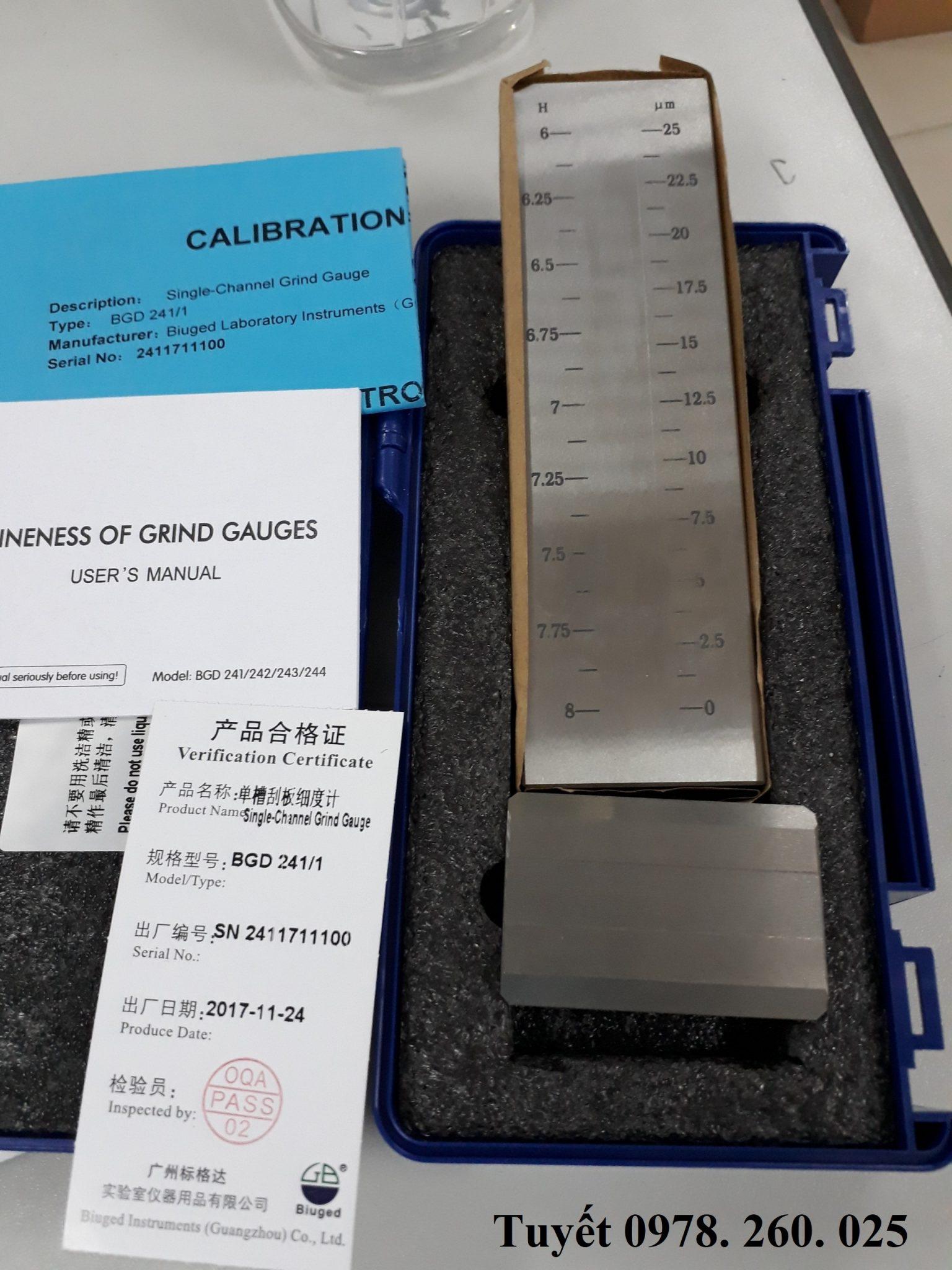 Dụng cụ đo độ mịn sơn Trung Quốc